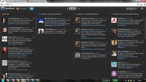 tweetdeck in action